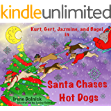 Kurt, Gert, Jazmine, and Bagel : In Santa Chases Hot Dogs