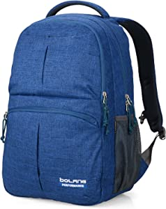 BOLANG College Backpack for Men Water Resistant Travel Backpack Women Laptop Backpacks Fits 16 inch Laptop Notebook 8459 (Navy Blue)