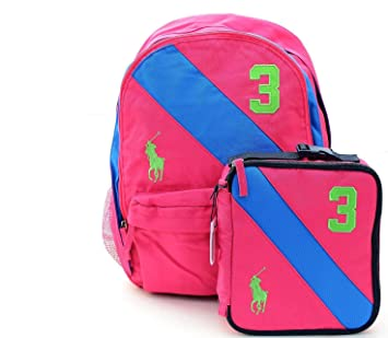 Polo Ralph Lauren Boys School Backpack Medium Gym Bag (Pink)  Amazon.co.uk   Computers   Accessories 96d11708c3207