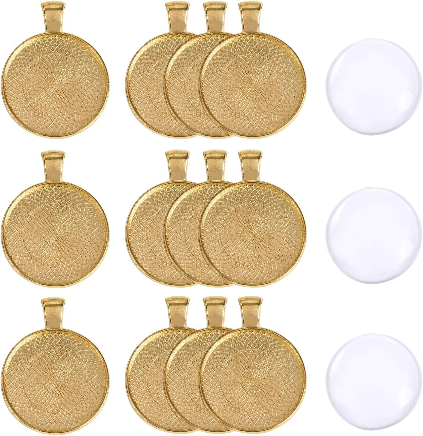 10PCS 24K Gold Color Brass Oval Lace Trays Bezels Base Cabochon Beads Settings