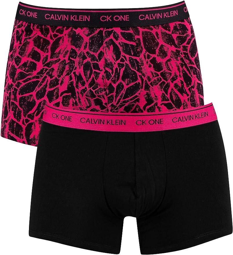 Calvin Klein de los Hombres Pack de 2 baúles CK One, Negro: Amazon.es: Ropa y accesorios