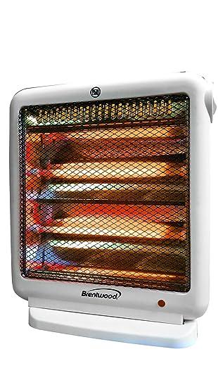 quartz radiant heater electric portable personal space energy efficient white - Energy Efficient Space Heater