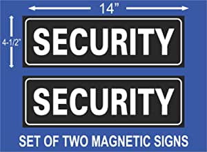 set of 4 Reflective Magnetic DOG UNIT Signs,Strongest Vehicle Grade Magnetic