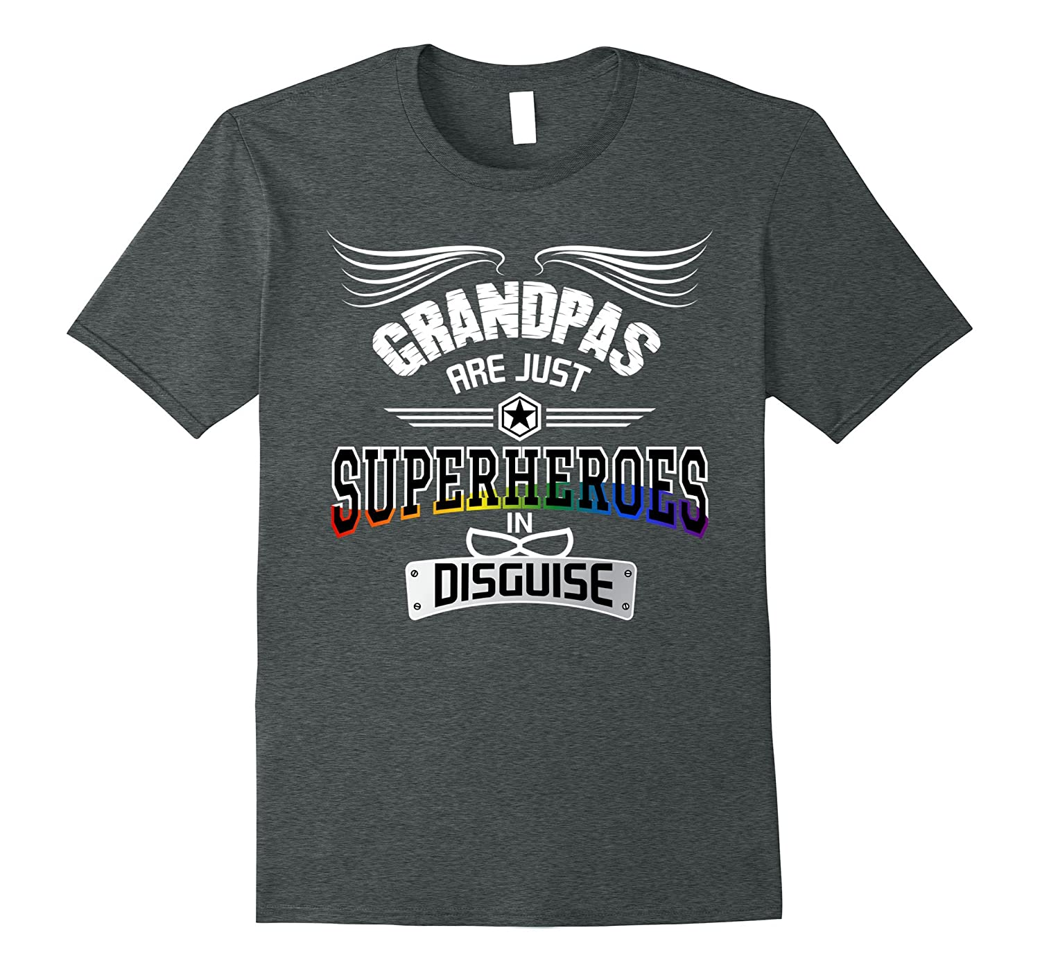 Mens Best Grandpas Are Just Superheroes in Disguise Funny T-Shirt