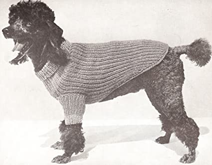 Amazon Vintage Knitting Pattern To Make Knitted Dog Sweater S