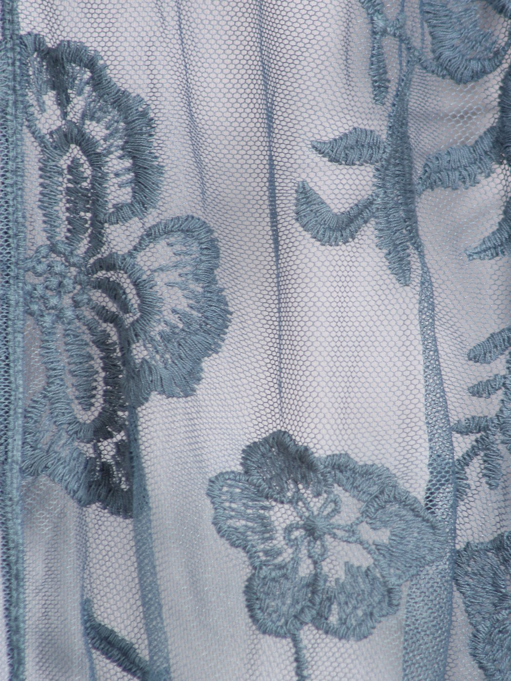 Anna-Kaci Womens Long Embroidered Lace Kimono Cardigan with Half Sleeves, Blue, OneSize by Anna-Kaci (Image #5)