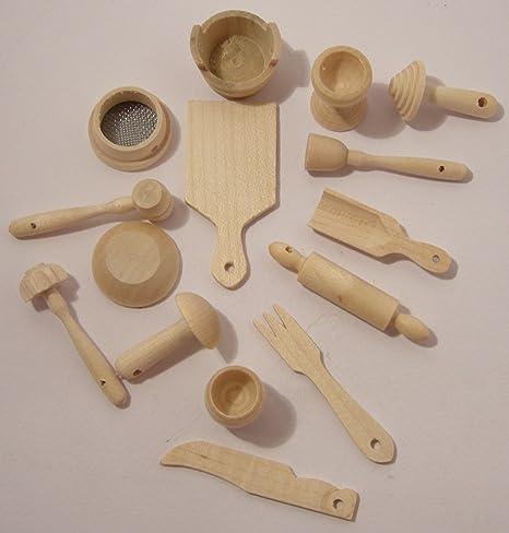 Utensili da cucina - accessori per dolci - set in miniatura - 15 ...
