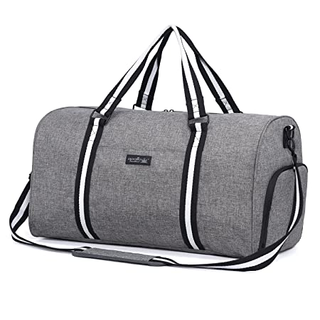 Apollowalker Water Resistant Sports Gym Travel Weekender Duffel Bag with Shoe  Compartment Grey  Amazon.co.uk  Luggage 1d047dd0d4c18