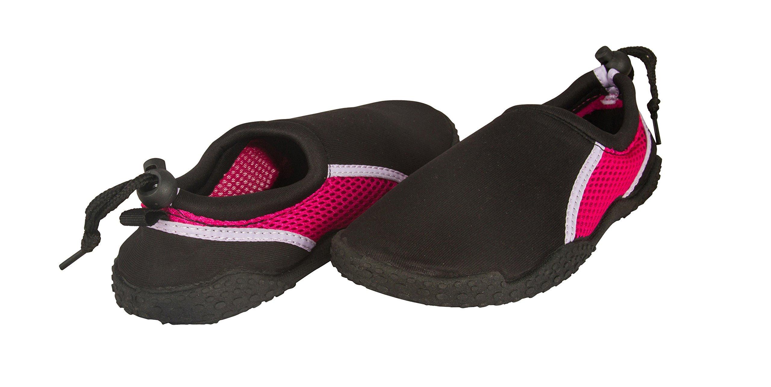 Shocked Toddler Neoprene and Mesh Water Beach Shoe Size 7-8 Black/Fuchsia/Lilac