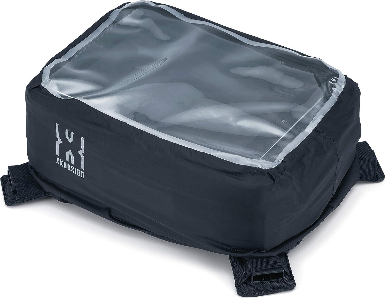 Black Kuryakyn 5294 XKursion XT Co-Pilot Weather Resistant Motorcycle Tank Storage Bag