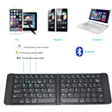 Rii K09 Teclado plegable Bluetooth para iOS, Android, Windows, PC, Tablets y Smartphones. Color Negro