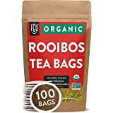 Organic Rooibos Tea Bags | 100 Tea Bags | Eco-Conscious Tea Bags in Kraft Bag | Raw from South Africa | by FGO