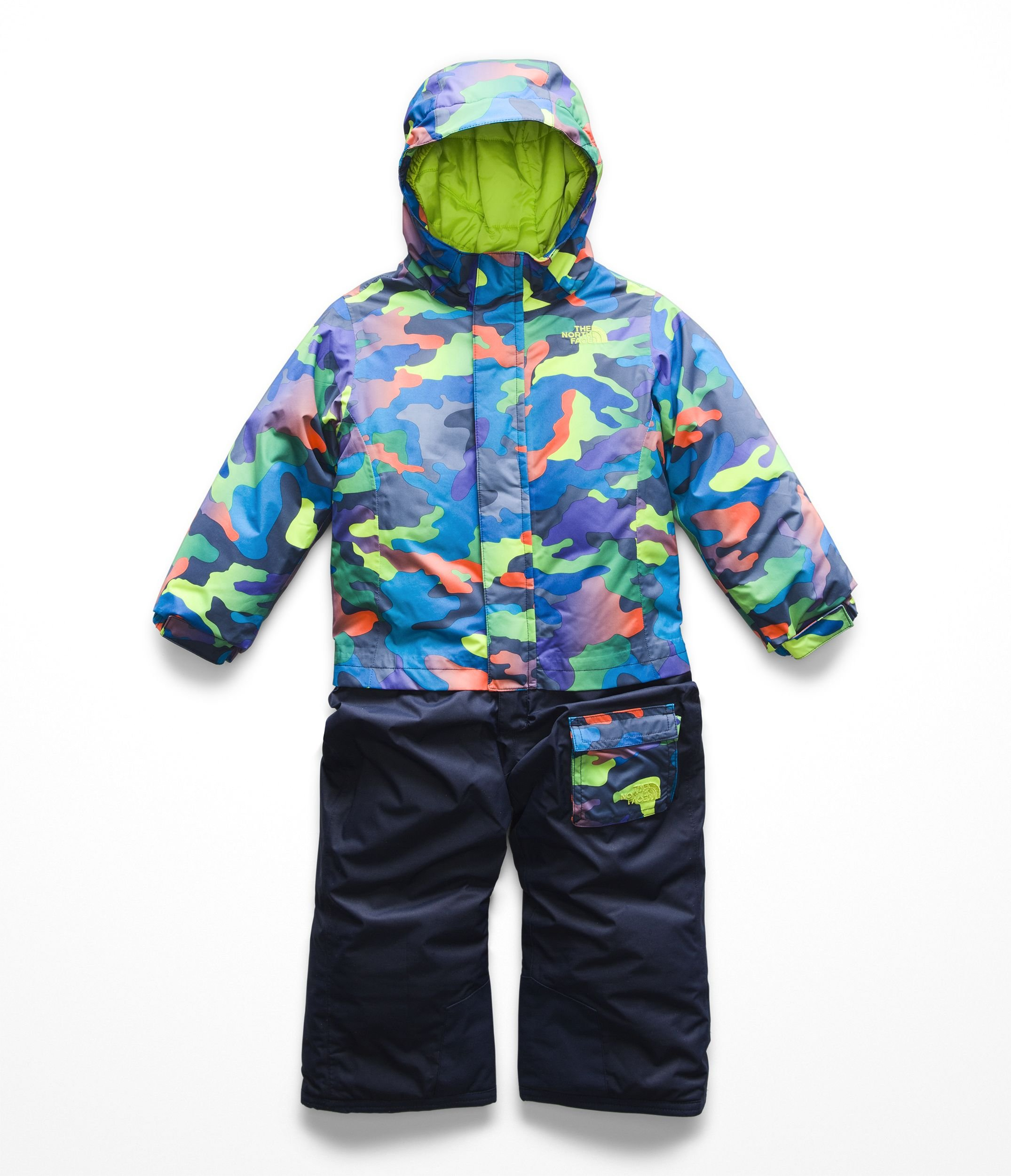 The North Face Kids Baby Boy's Insulated Jumpsuit (Toddler) Cosmic Blue Ombre Camo Print 3T