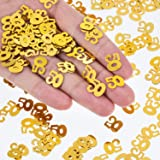 WILLBOND 50th Birthday Confetti 50 Number