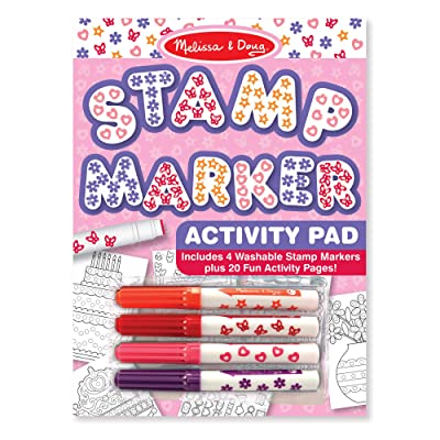 Melissa & Doug Stamp Marker Activity Pad - Butterflies, Hearts, Flowers, and Stars (Great Gift for Girls and Boys - Best for 4, 5, 6, 7, 8 Year Olds and Up): Melissa & Doug: Toys & Games