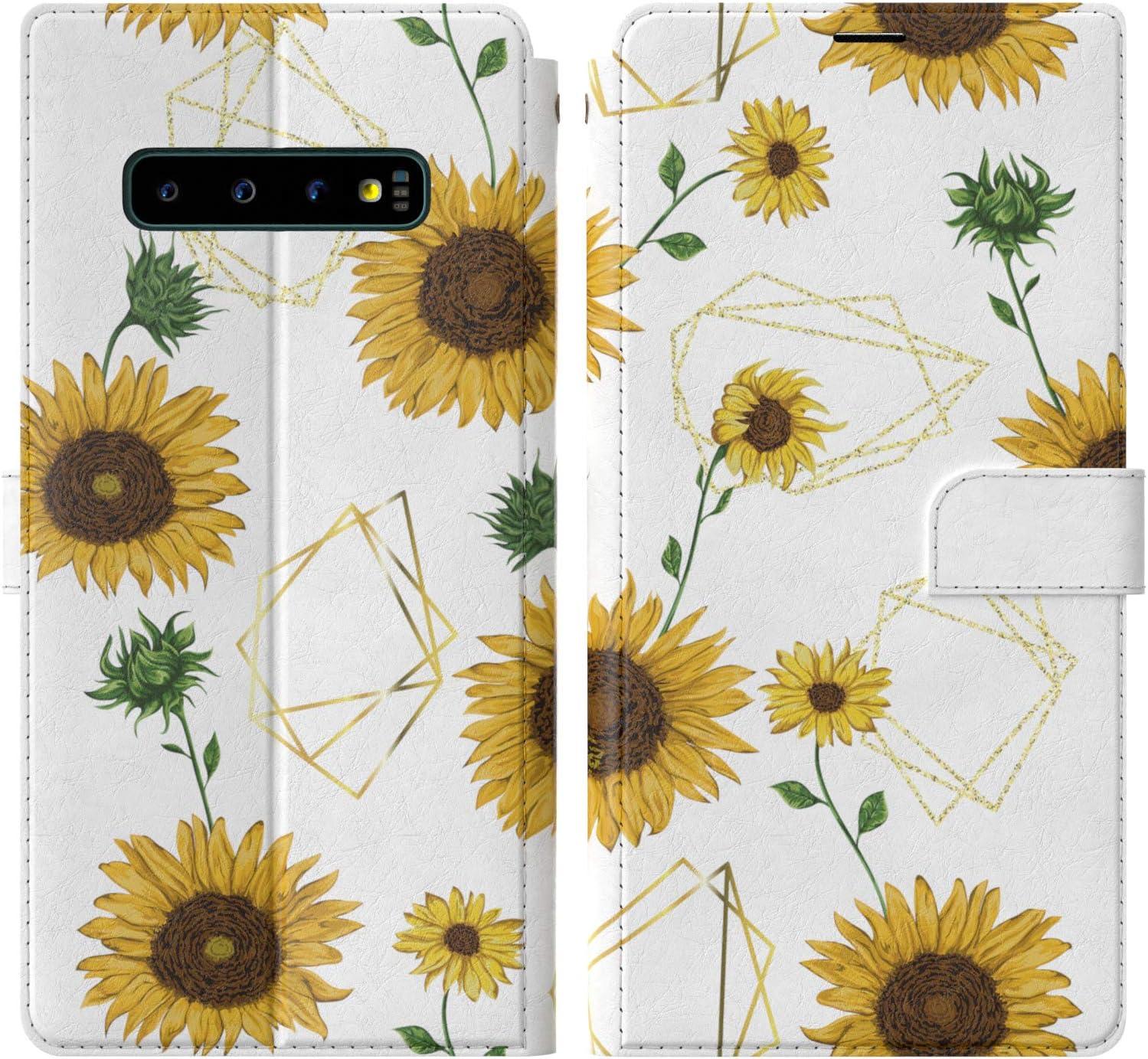 Se Galaxy Note Art Gift 6 8 7 PLUS Flowers RFID Phone Wallet Case