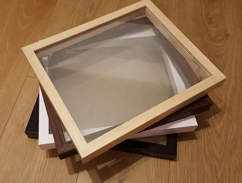 Glas zu Glas Schweben Bilderrahmen nur - echtes Holz, Glas zu Glas ...