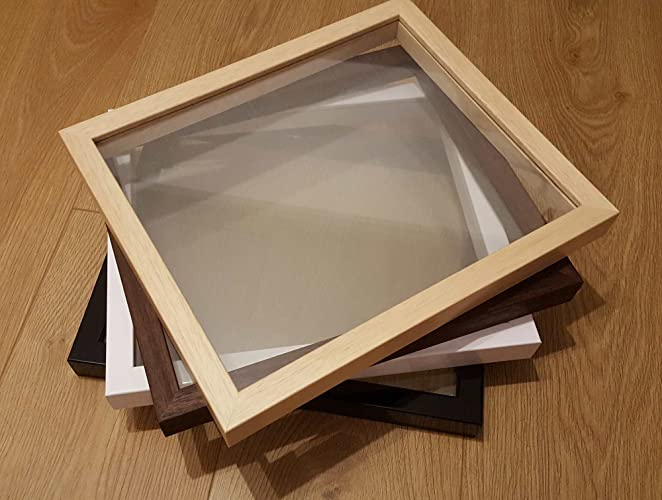 Floating Frame Only Real Wood Glass To Glass Frames Papercut