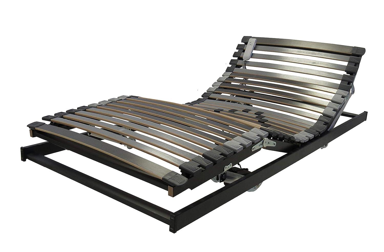 BELARO Lattenrost XL Exklusiv MOT 90x220 cm || Unterfederung für hohe Belastungen bis 130kg - motorische Ober- und Unterkörperverstellung