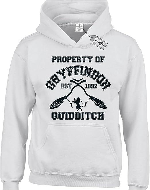 Propiedad de Gryffindor Quidditch Harry Potter inspirado Kids niños sudaderas con capucha disponible de 3 a