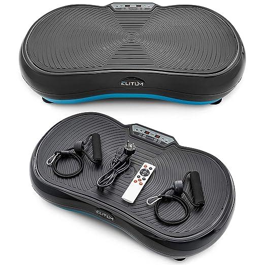 Elitum Vibrationsplatte PX200 Vibrationsgerät 99 Intensitätsstufen 11 Trainingsprogramme belastbar bis 150 kg Fernbedienung E