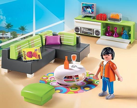 Playmobil 5584 City Life Luxury Mansion Modern Living Room Amazon