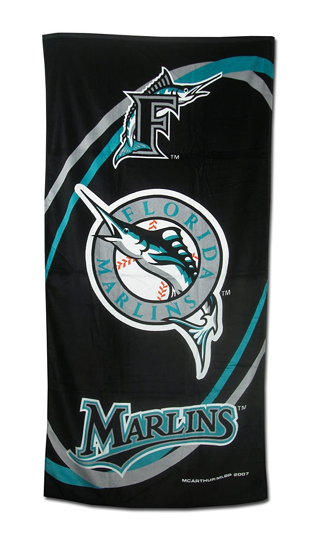 Florida Marlins Fiber Reactive Pool//Beach//Bath Towel Team Color