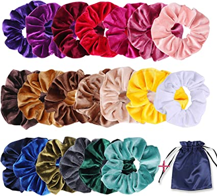 20x Multi Spiral HairBobbles Elastic Band Ponytail Stretchy Telephone Wire coil