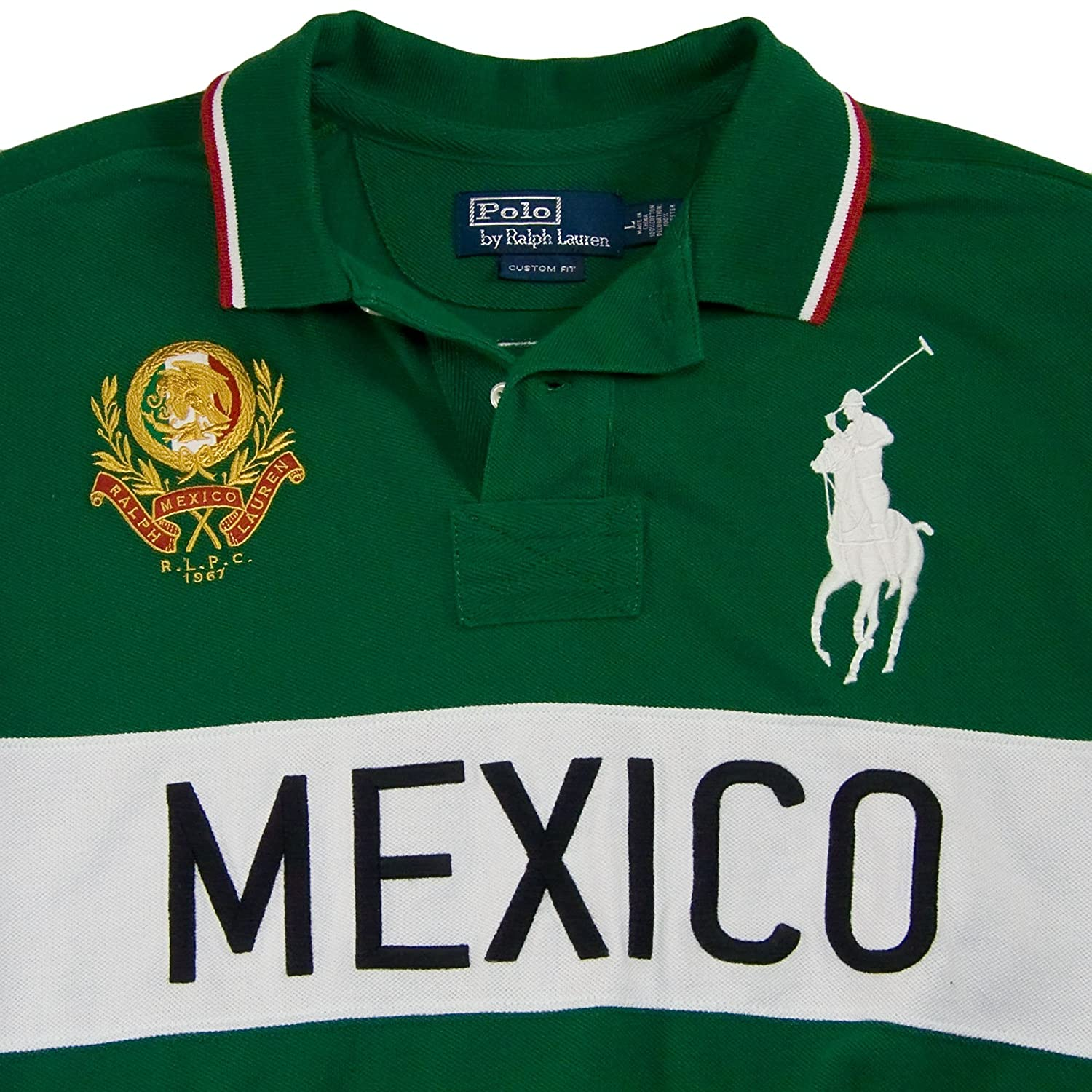 Polo Ralph Lauren Slim Modern Field Country Polo Shirt, Mexico, XL at  Amazon Men s Clothing store  1e08d147c6a2