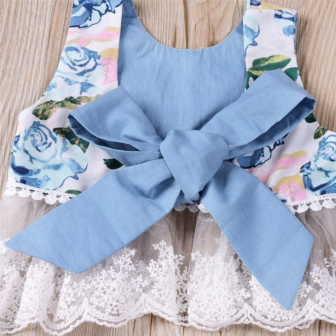 Rose Outfits for Baby Girl Newborn Lace and Floral Top+Pink Shorts Summer Sets