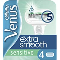 Venus Sensitive Extra Glad Navulmesjes, 4 Stuks