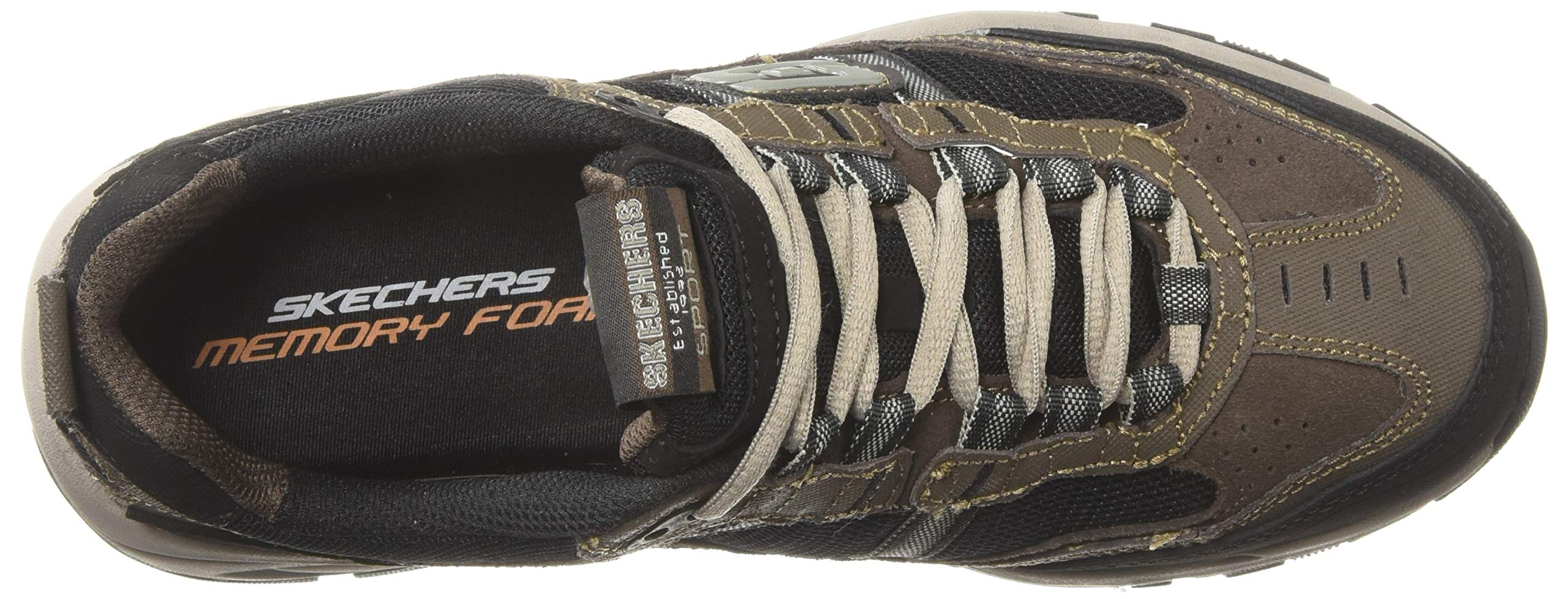 72033c44c88f0 Skechers Sport Men's Vigor 2.0 Trait Memory Foam Sneaker, Brown/Black, 10 M  US