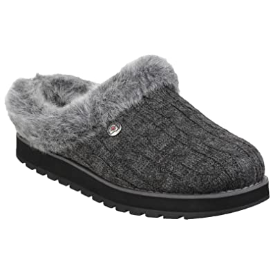 Amazon.com | Skechers Womens/Ladies Keepsakes Ice Angel Slip On Mule Slippers | Slippers