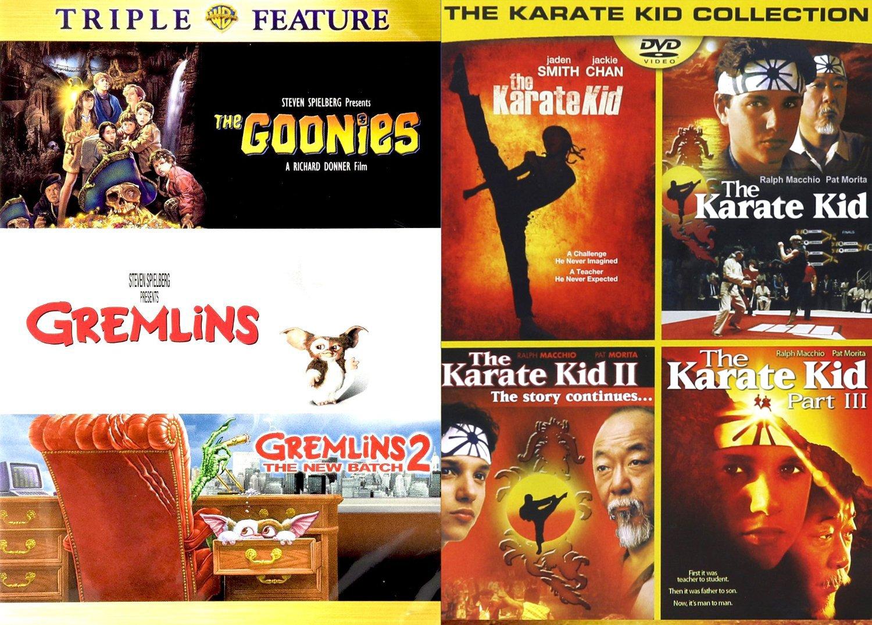 The Goonies Karate Kid Gremlins DVD Collection | Gremlins 2 80's+ The Karate Kid 4 Movie Collection by 20th Century Fox