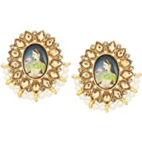 The Luxor Traditional Gold Plated Lord Radha-Krishna Temple Jewellery Earring for Women and Girls