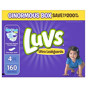 Amazon.com: Luvs Ultra Leakguards Diapers Size 4, 160 Count ...