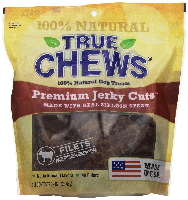 True Chews Premium Jerky Cuts Sirloin Steak, 11-Inch