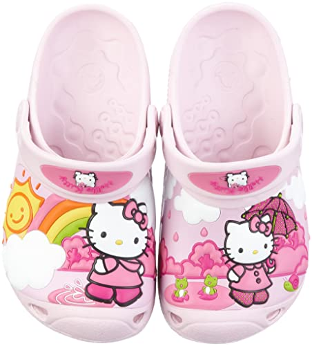 cad025b1796b9 Crocs Junior Hello Kitty Fun Rain Or Sun Custom Clog Bubblegum Bubblegum  Mules And Clogs Sandal 11434-67P-133 2 UK  Amazon.co.uk  Shoes   Bags