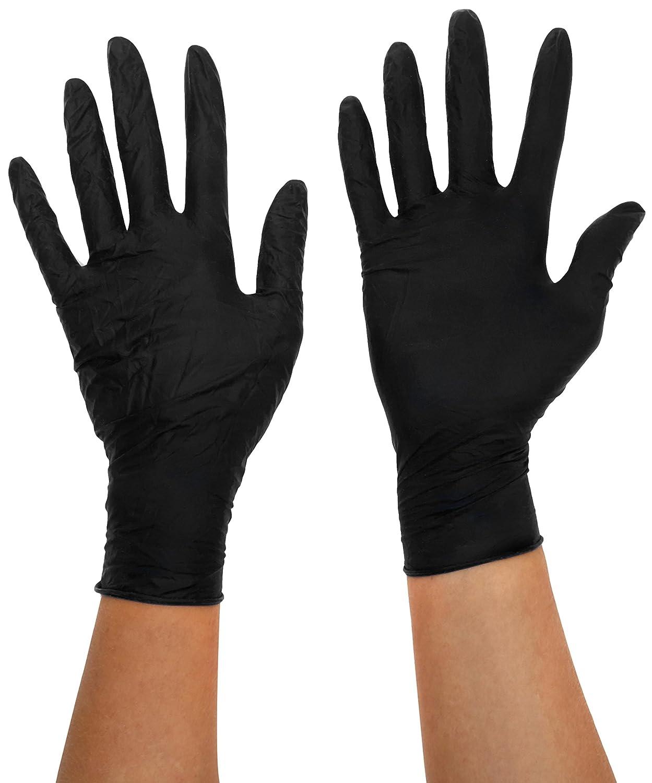 Bodyguards GL897 Powder Free Disposable Black Nitrile Gloves - Box of 100 (Medium) BM POLCO GL8972 378548