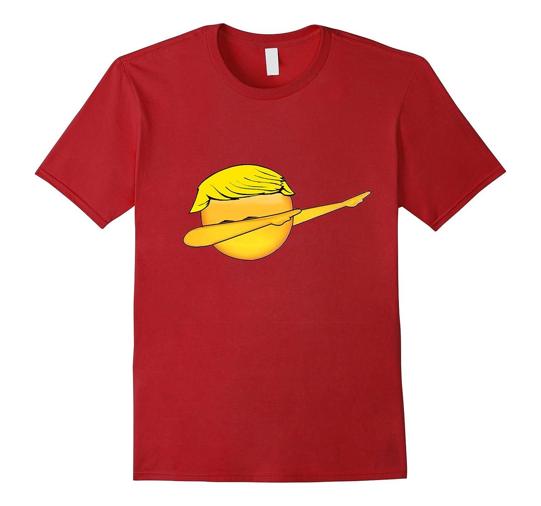 Funny Dabbing Emoji With Hair Football Sports Dance T-Shirt-TD