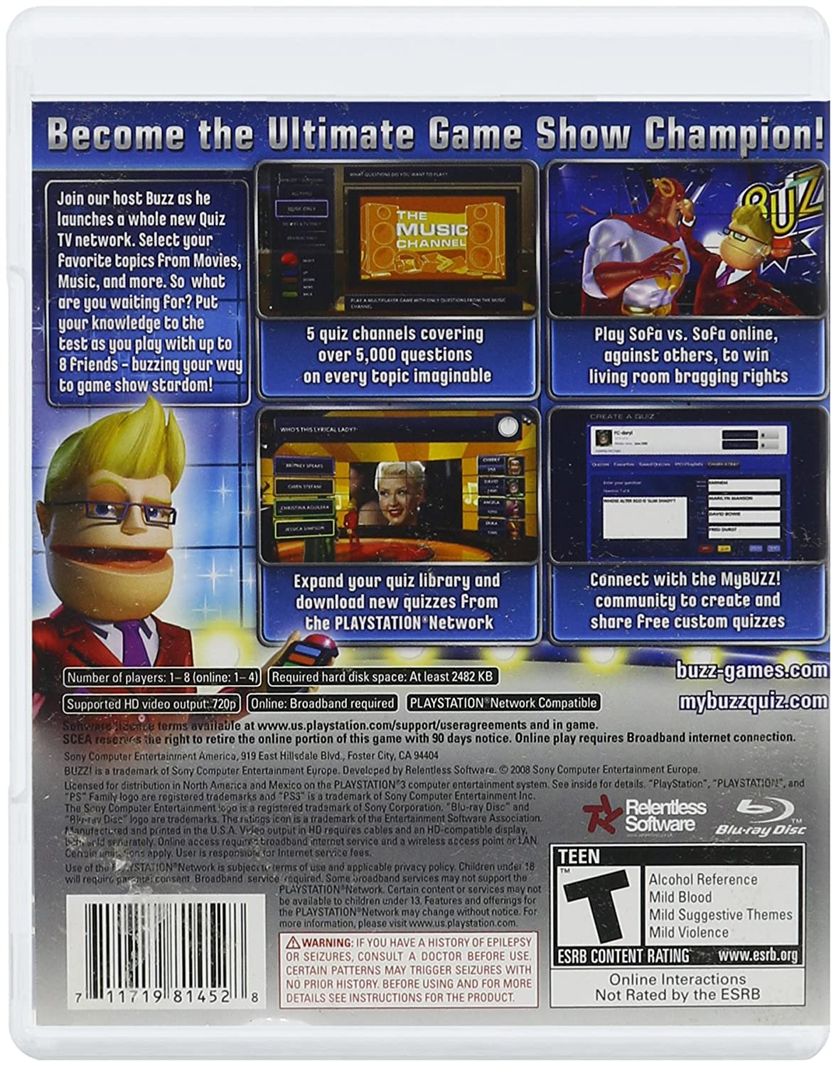Quiz Show Games Online Got To Teach Electrical Circuit Game Lesson Amazon Com Sony 137439 Buzz Tv Only Playstation 3 Video