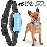 Small Rechargeable Dog Bark Collar For Tiny To Medium Dogs by GoodBoy Waterproof Vibrating Anti Bark Training Device That Is Smallest & Most Safe On Amazon - No Shock No Spiky Prongs! ( 6+ lbs )