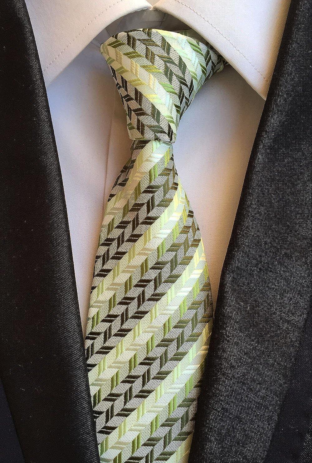 WeiShang Lot 6 PCS Classic Mens Tie Silk Necktie Woven JACQUARD Neck Ties