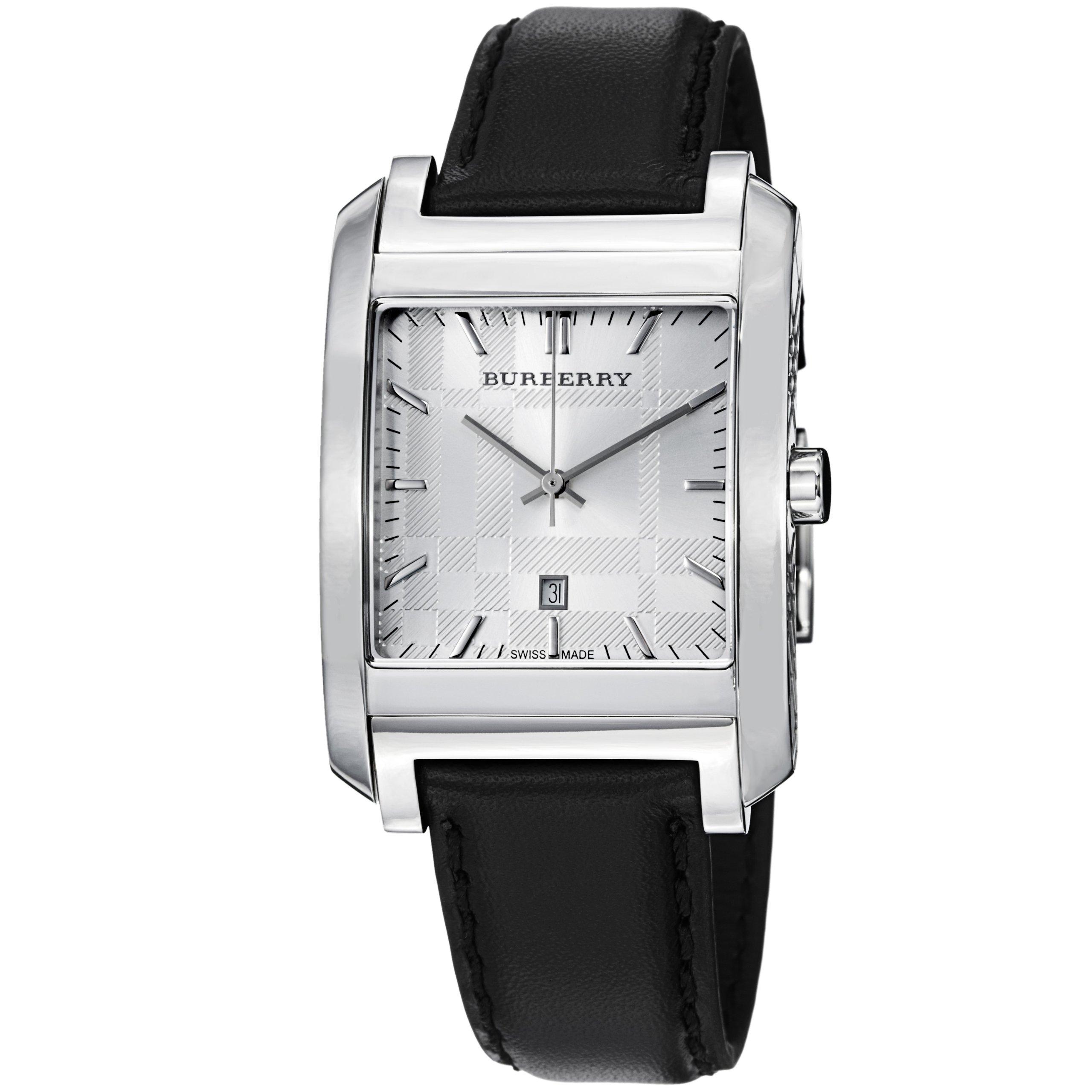 Burberry Men's BU1570 Nova Check Black Leather Strap Watch