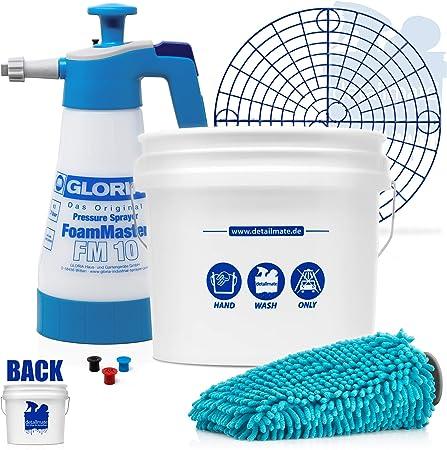 Detailmate Set Auto Handwäsche Gritguard Wascheimer 3 5 Gal Ca 13 L Foamer Detailmate Chenille Waschhandschuh Detailmate Set Gloria Auto