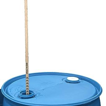 Bastón de madera dura de 55 galones, 48 pulgadas de longitud, medidas de doble cara en el lado o en la parte ...