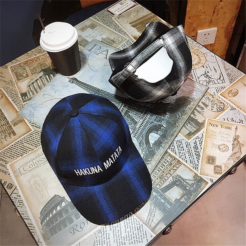 Unisex Spring Autumn Cap Women Men Letter Plaid Casquette Peaked Cap Baseball Cap Hip Hop Hat
