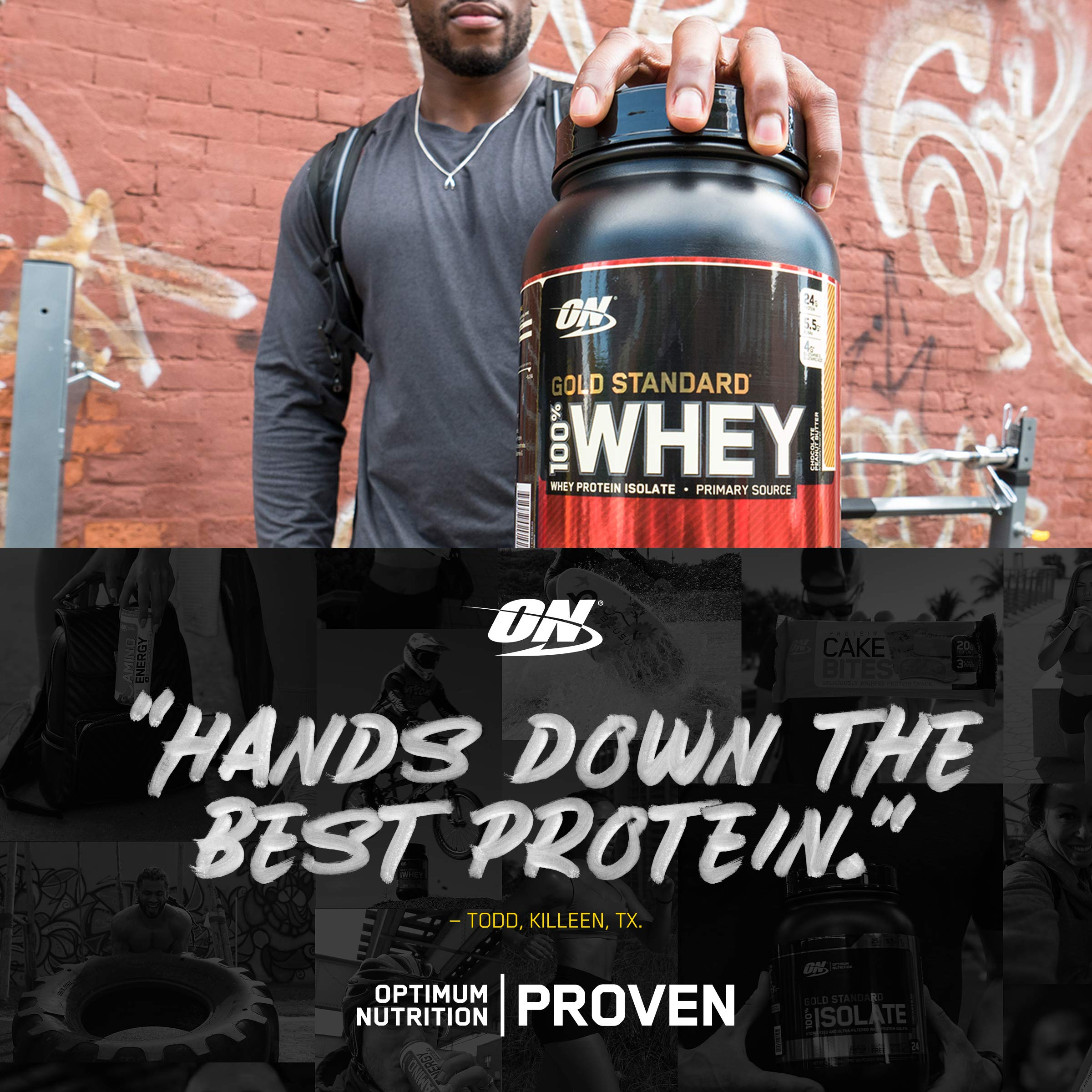 OPTIMUM NUTRITION GOLD STANDARD 100% Whey Protein Powder, Naturally Flavored, 4.8 Pound by Optimum Nutrition (Image #3)