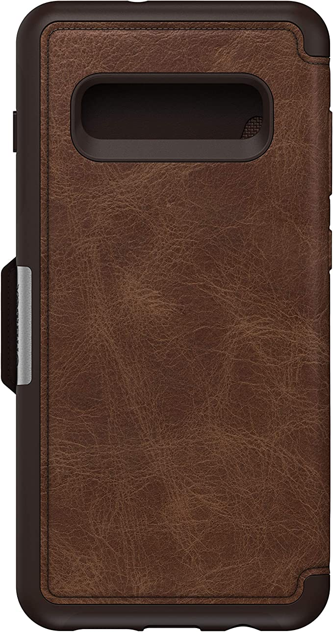 Otterbox Strada Etui Elegante Sturzsichere Folio Schutzhülle Aus Echtem Leder Für Galaxy S10 Braun Elektronik