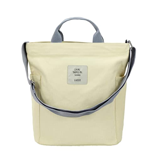 08f066cb6c64 Amazon.com  SteamedBun Womens Canvas Crossbody Tote Bag Large Hobo Handbags  Shoulder Purse with Zipper Work Travel Shopper Bags  Shoes